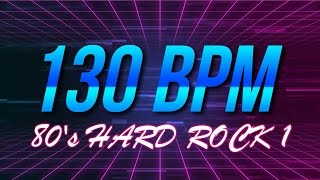 130 BPM - 80's Hard Rock - 4/4 Drum Track - Metronome - Drum Beat