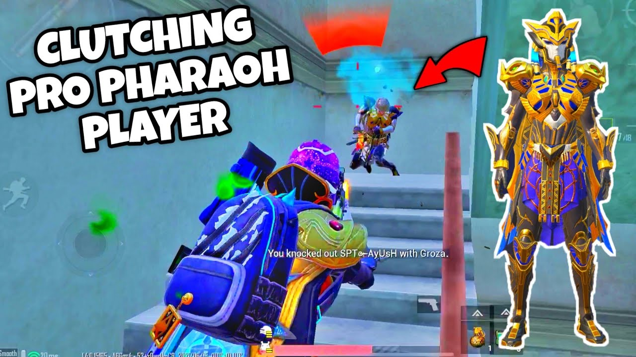 This PRO PHARAOH Player Is OVERCONFIDENT But It Was A Mistake   BGMI Solo VS Squad