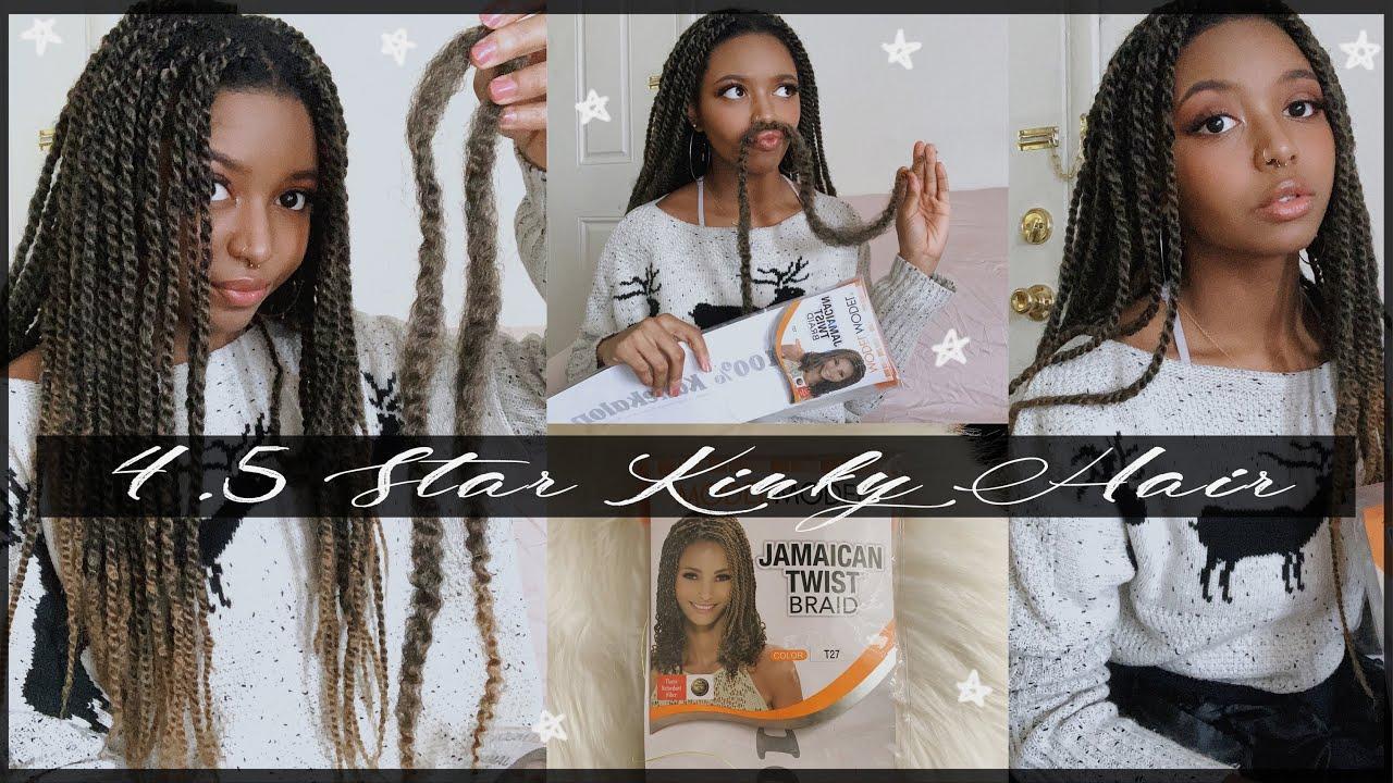 Model Model Jamaican Twist Braid Review Kinky Twist Hair Review Take Down Youtube