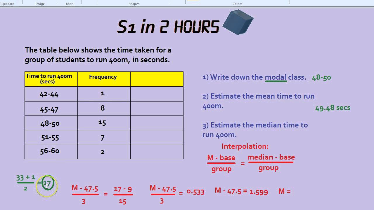 S1 in 2 hours interpolation modal class and estimating the mean s1 in 2 hours interpolation modal class and estimating the mean youtube ccuart Images
