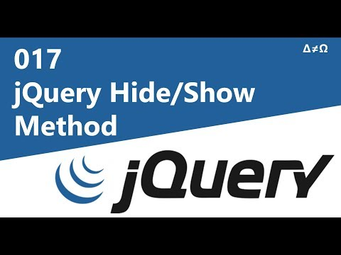 017 jQuery Hide/Show Method - jQuery Tutorial for Beginners thumbnail
