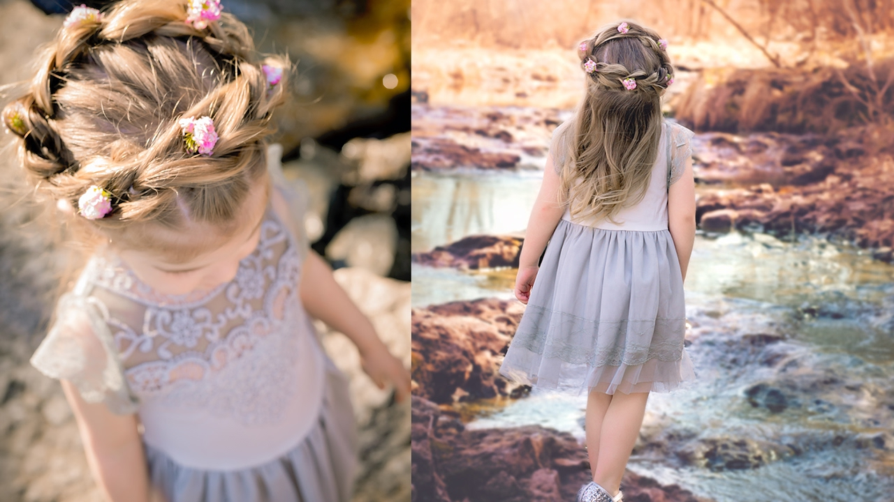 Flower Girl Hairstyle Pull Through Crown Braid Youtube