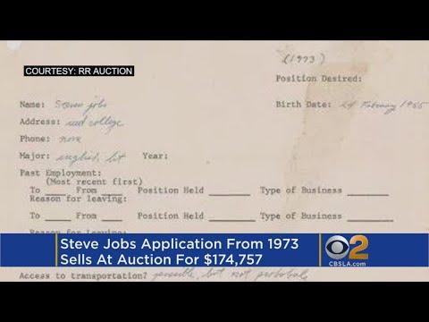 Steve Jobs' 1973 job application sells for over $174K