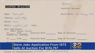 Steve Jobs' 1973 job application sells for over $174K thumbnail