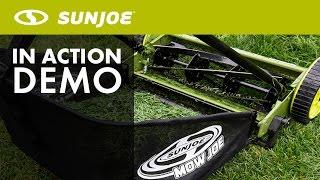 MJ500M - Sun Joe Mow Joe 16-Inch Manual Reel Mower with Catcher - Live Demo