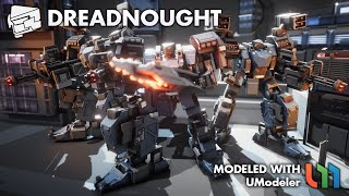 The Combat Robot - The Dreadnought modeled with UModeler in Unity.