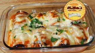 Рулеты из баклажанов в соусе Маринара / Eggplant rolls