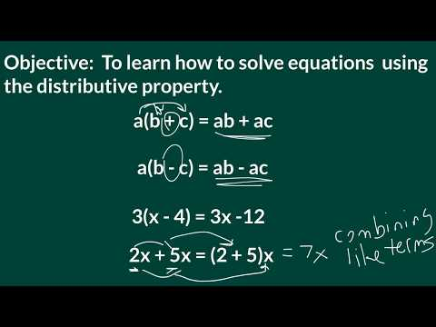 Solving Equations with Distributive Property
