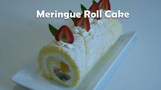Meringue Roll cake/머랭 롤케이크/Bis…