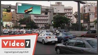 الشاشات الإلكترونية للمرور تعرض لقطات عن قناة السويس الجديدة