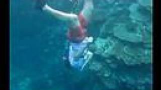 30ft deep, snorkeling through a coral tunnel @ Kabira, Ishigaki-jima