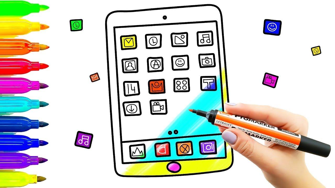 Tablet Game Kids Dibujo Y Coloreado Con Marcadores De