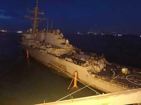 USS John S. McCain Moves to Heavy Lift Vessel