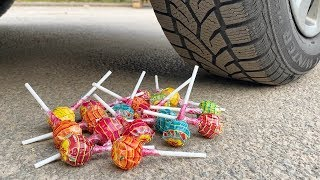 Crushing Crunchy & Soft Things by Car! - EXPERIMENT: Car vs Chupa Chups Lollipops