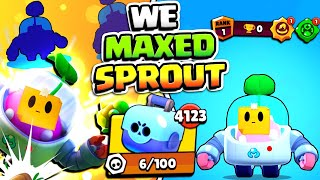 WE GOT SPROUT & THEN THIS HAPPENED!! (wall trapping OP) GEMMING & MAXING NEW UPDATE BRAWLER!