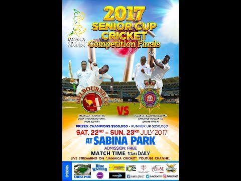 JAMAICA SENIOR CUP CRICKET FINAL 2017 SABINA PARK JAMAICA MELBOURNE vs JDF DAY 2