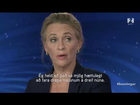 Þorgerður Katrín í kjördæmaþætti Stöðvar 2