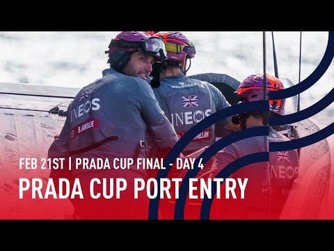 🔴 PRADA Cup Port Entry Stern Camera | Final Day 4