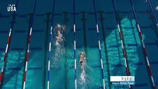 Bobby Finke Wins The Men's 800-meter Freestyle   Champions Series Presented By Xfinity