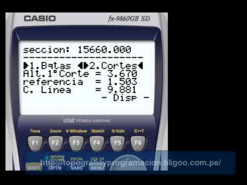 programas de topografia para calculadora casio fx-9860g sd