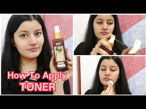How To Apply Toner Correctly    WOW Lavender & Rose Toner