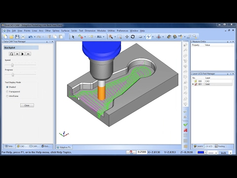 Link Back Feedrate for Adaptive Pocketing - BobCAD-CAM Quick Tips