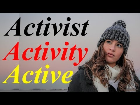 English to Hindi dictionary words meaning and phrases -  active activist activity