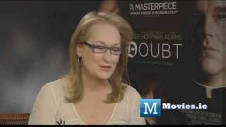 Meryl Streep - Oscars interview - Star of Doubt, Its Complicated, Mamma Mia, Julie & Julia