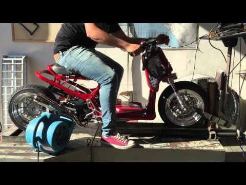 Stiv's 63cc Big Bore GET Honda Ruckus - YouTube