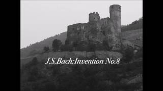 J.S.Bach:Invention No.8  BWV 779 Flute duo