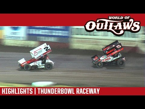 World of Outlaws Craftsman Sprint Cars Thunderbowl Raceway March 17, 2017 | HIGHLIGHTS