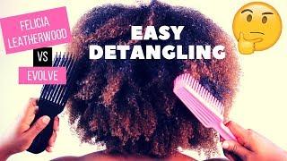 Felicia Leatherwood Detangler Brush vs Evolve Flow Thru Detangler | Demo & Comparison