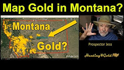 Where Can I Find Gold in Montana (USGS Gold Map)