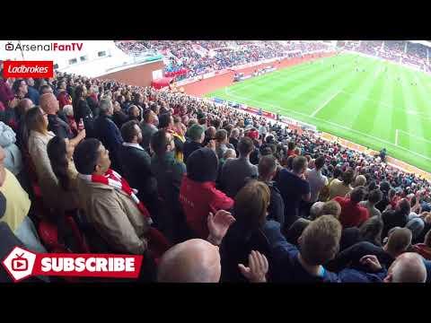 New Lacazette Chant! (Arsenal Fans Sing Lacazette's Name Away At Stoke)