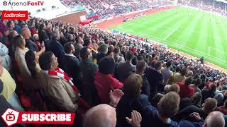 New Lacazette Chant! (Arsenal Fans Sing Lacazette's Name Away At Stoke)