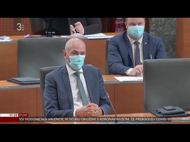 Janez Janša na seji državnega zbora o ukrepih za zajezitev epidemije in omilitev njenih posledic