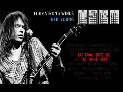 Neil Young ~ Four Strong Winds....(Ukulele Play-Along w/Easy Chords ...