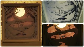 Shadow Box * DIY * Paper Cut Light Box [eng sub]
