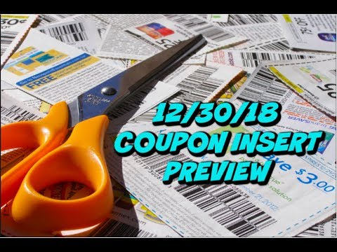 12/30/18 COUPON INSERT PREVIEW | JANUARY P&G