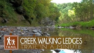 Creek Walking at Ledges State Park  | Trail-in-a-Minute