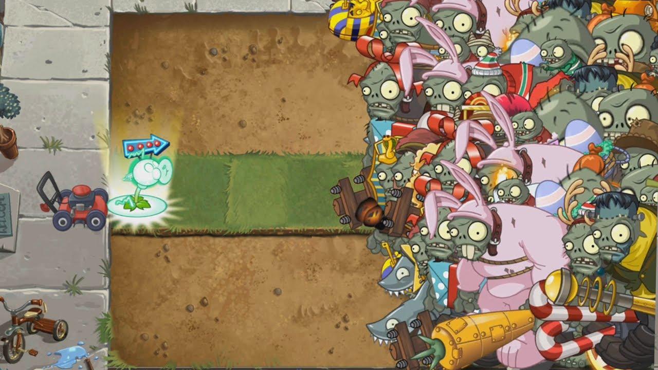Plants vs Zombies 2 - Lanzaguisantes Electrico vs 9999 Zombistein