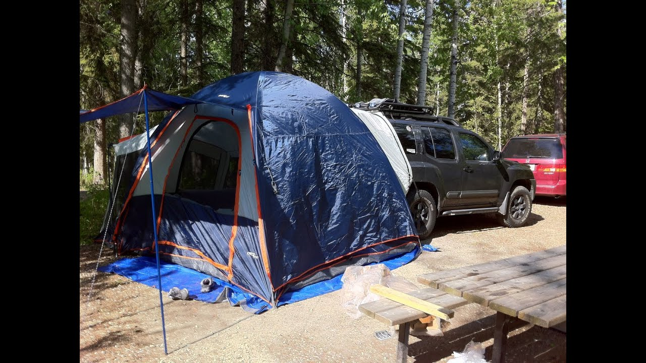 First time set up Sportz SUV tent by Napier  YouTube