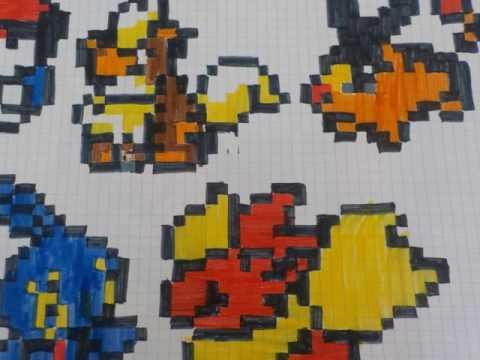 Dessin Pixel Minecraft Et Pokemon Youtube