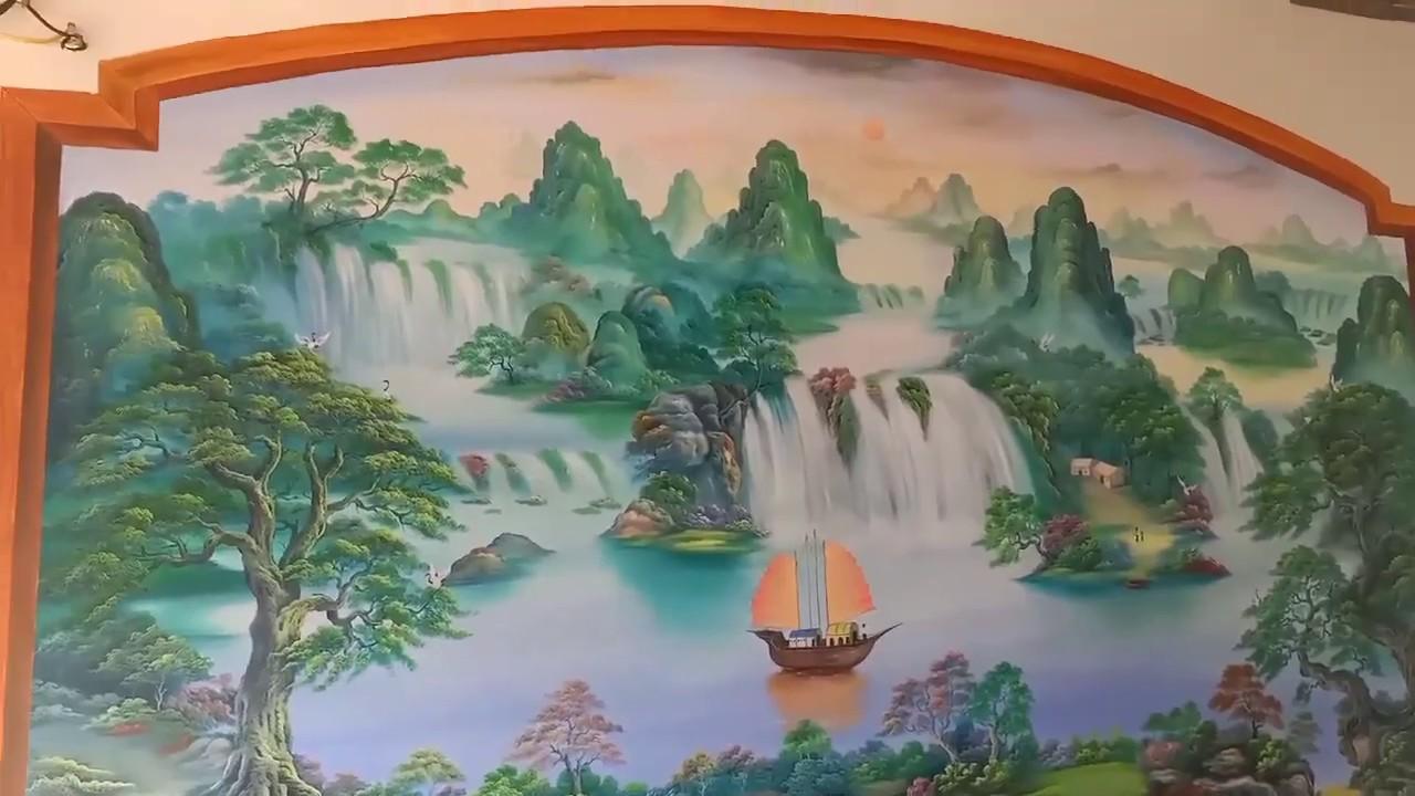 Vẽ tranh tường phong cảnh hùng vĩ tại Đống Đa, Hà Nội – Vẽ tranh nghệ thuật cực đẹp LH Zalo 07991100