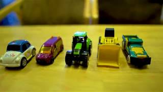 Toys for kids! The detachment car! Many cars in a scene