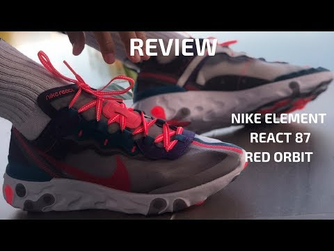 Nike Element React 87 Red Orbit Review Youtube