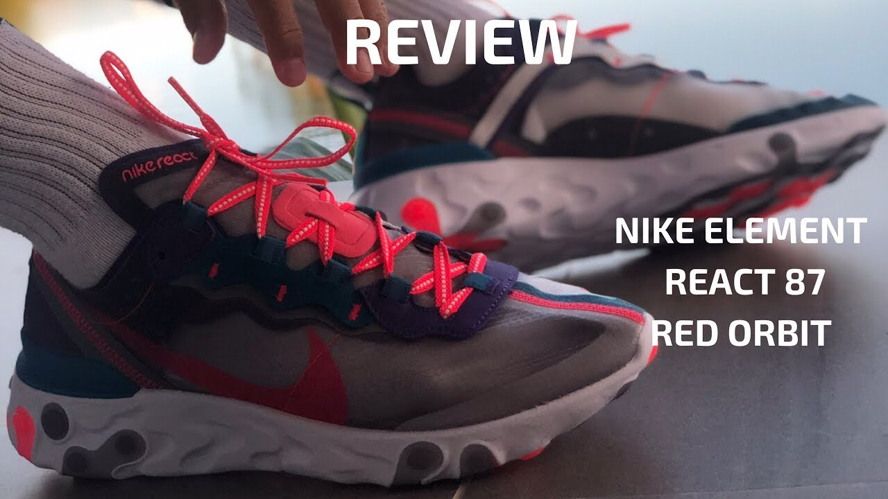 NIKE ELEMENT REACT 87 RED ORBIT REVIEW