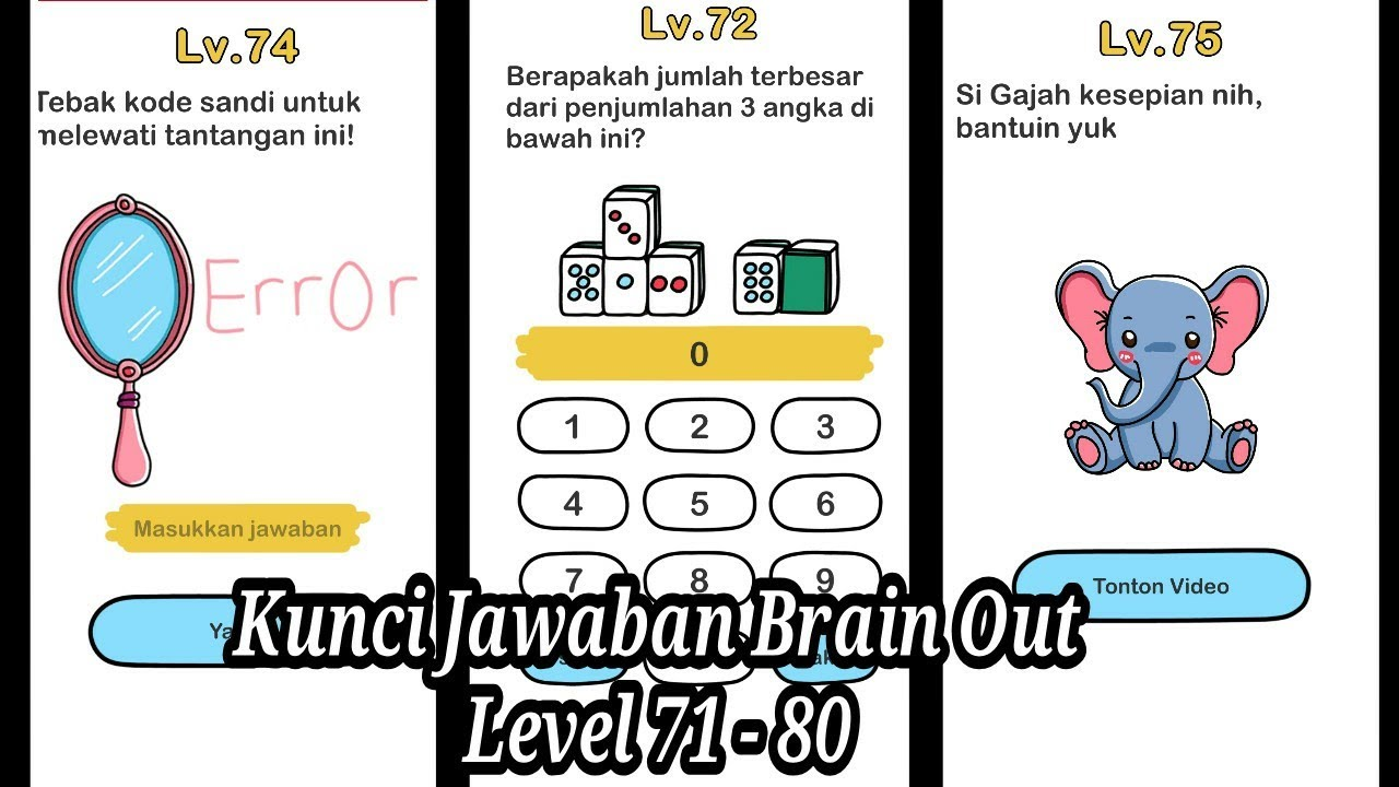 Kunci Jawaban Brain Out Level 71 80 Youtube