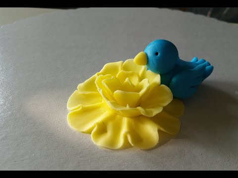 Gum Paste Bird / Fondant Vogel