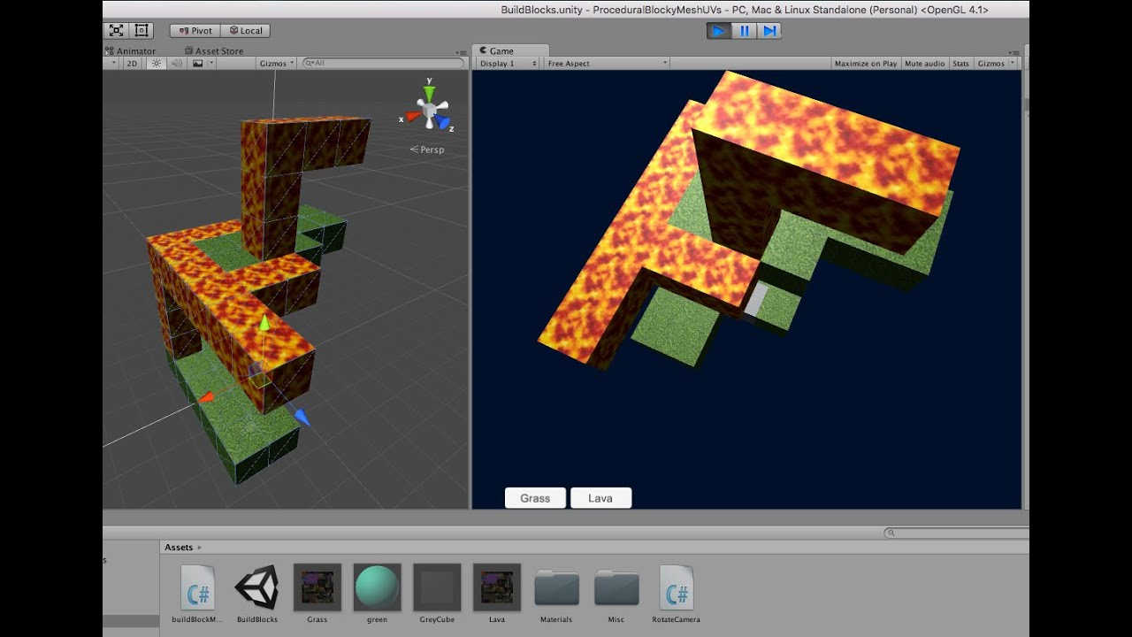 Building a Blocky Procedural Mesh in Unity 5 Part 2: UV Mapping of Textures
